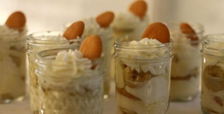 Delicious and cute banana puddings